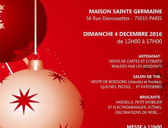 Marché de Noël de la Maison Sainte Germaine (Paris)