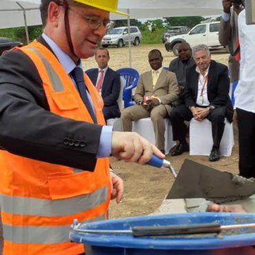 Pose de la première pierre de Telema II – Kintambo (RDC)