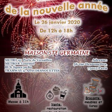 Ne manquez pas le marché de la nouvelle année de la maison Sainte Germaine !