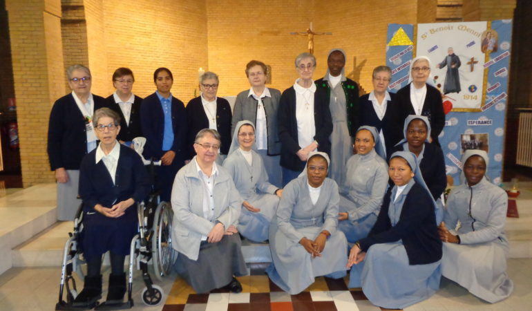 Fête de Saint Benoît Menni à la Maison Sainte Germaine et renouvellement des voeux de Soeur Gabrielle